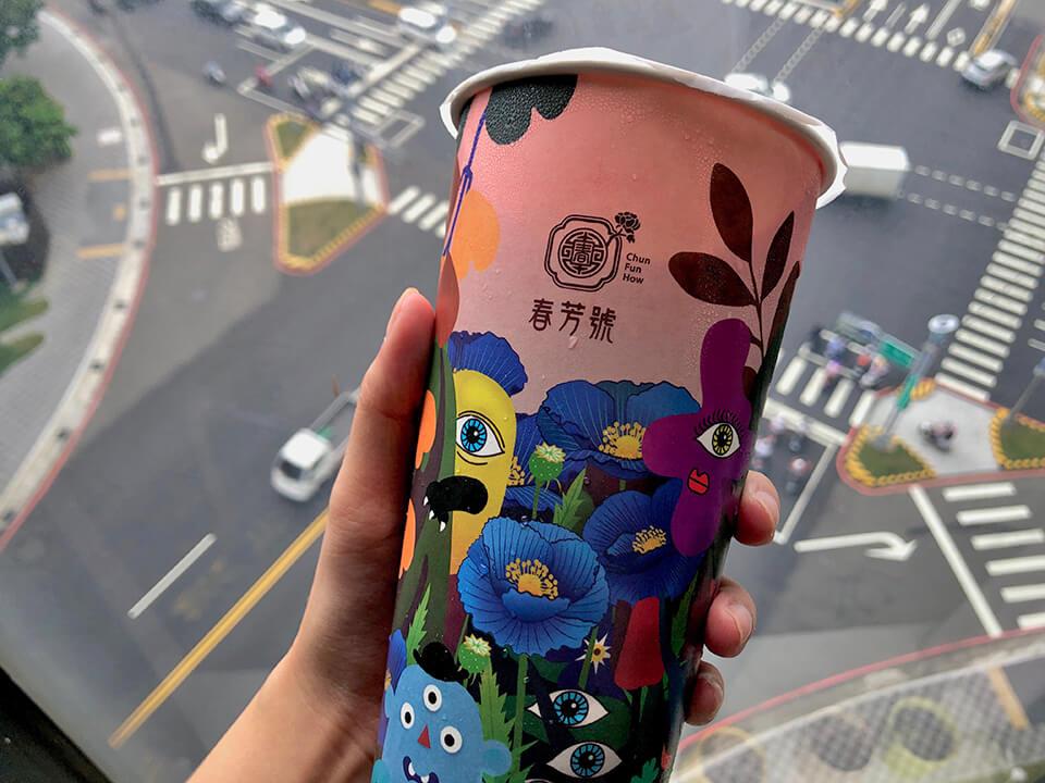 台中春芳號(城中店)|推薦層次感超豐富的桂花烏龍奶茶